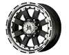 Image of American Outlaw Armor 18X8.5 5x150 10mm Black Machined Face