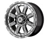 Image of American Outlaw Armor 17X8.5 6x139.7 10mm Charcoal Chrome Machined Lip