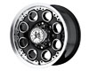 Image of American Outlaw Patrol 17X8.5 8x165.1 10mm Black Machined Face