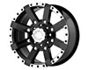Image of American Outlaw TNT 17X8.5 5x114.3 16mm Black Machined Lip