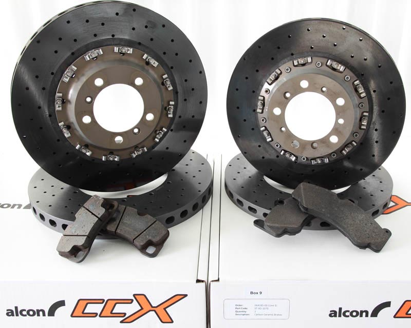 Alcon OE Replacement Carbon Ceramic Rotors & Pads Porsche 997 Turbo w/PCCB 07-12