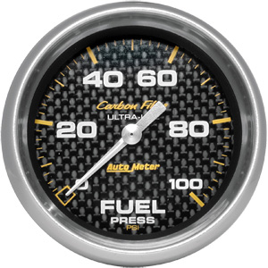 Autometer Carbon Fiber 2 5/8 Fuel Pressure Gauge