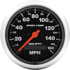 Autometer Sport-Comp 3 3/8 Programmable Speedometer 160MPH