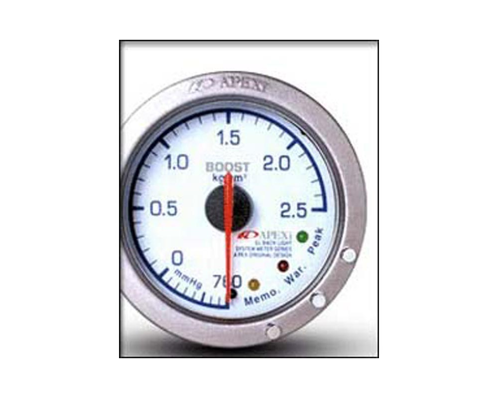 ApexI EL II Mechanical Boost PSI Gauge White