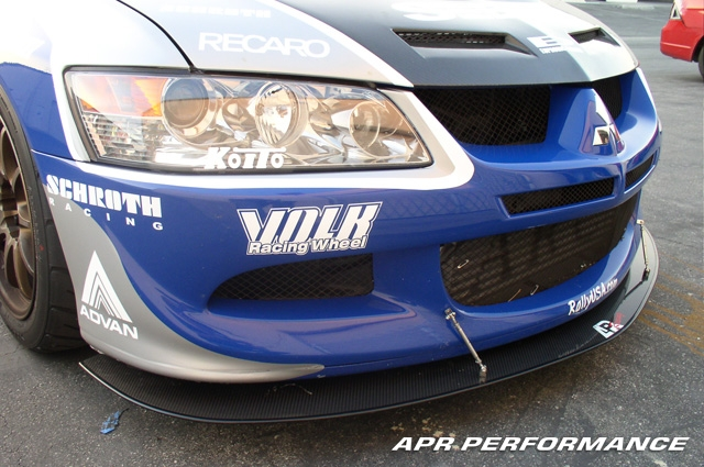 APR Carbon Fiber Wind Splitter w/ Lip Mitsubishi EVO IX 06-07 - CW-489006