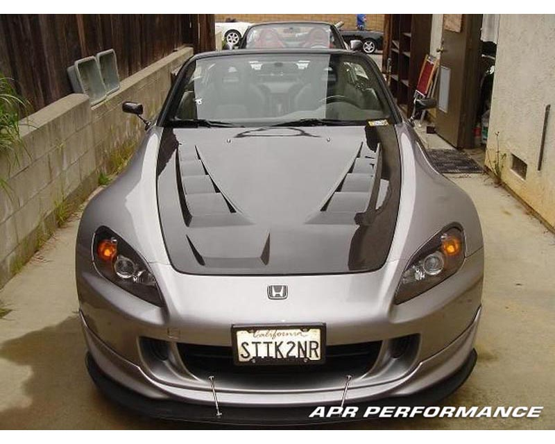 APR Carbon Fiber Wind Splitter With Rods Honda S2000 With APR Lip 04-09 - CW-924006