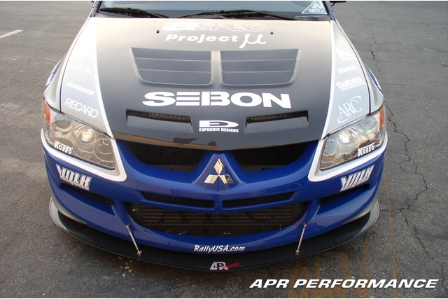 APR Front Carbon Wind Splitter Mitsubishi EVO IX 06-08 - CW-484009