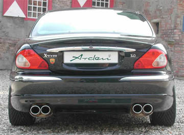 arden dual quad exhaust system jaguar x type v6 3 0l. Black Bedroom Furniture Sets. Home Design Ideas