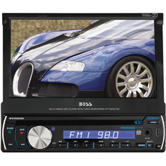 Image of Single Din Dvd Receiver7in Motorized Touchscreen M