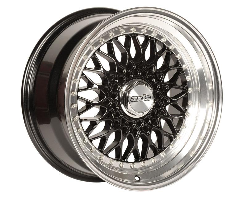 Image of Axis Klassic Wheel 17x7.5 4x100 35mm Black wPolished Lip