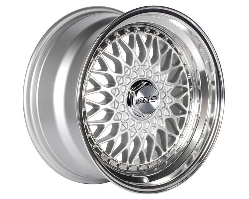 Image of Axis Klassic Wheel 17x7.5 4x100 4x114.3 35mm Silver wPolished Lip