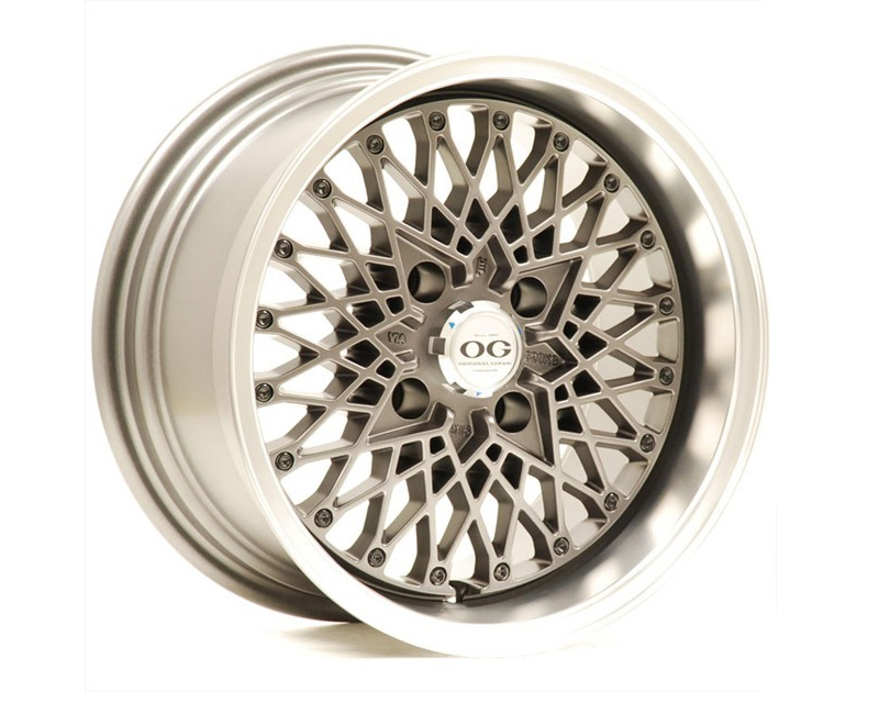 Image of Axis OG San Wheel 15x8 4x100 25mm Matte Gunmetal wMachine