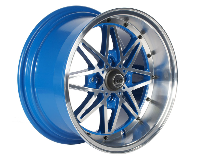 Axis OG Oldskool Wheel 15x8.0 4x100 +25mm Blue w/Machined