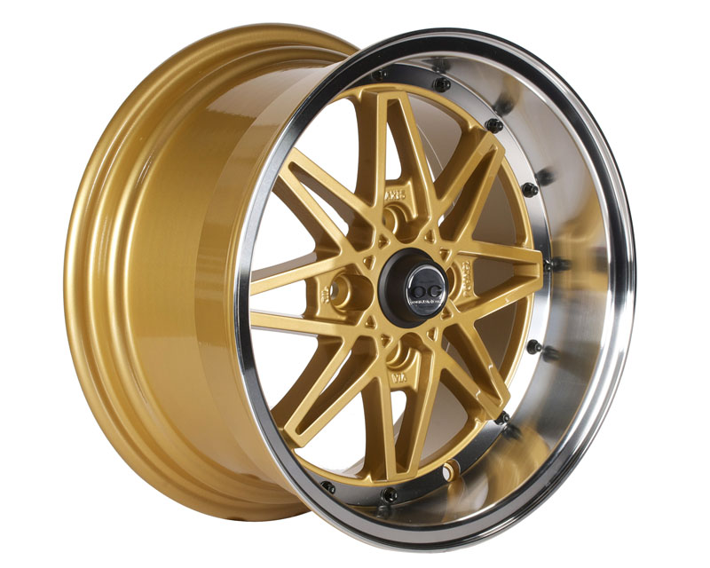 Image of Axis OG Oldskool Wheel 15x8.0 4x100 25mm Gold wMachined