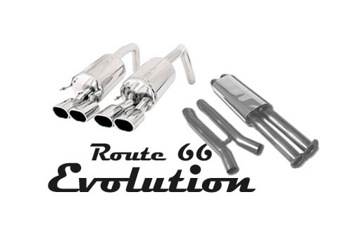 B&B Route 66 Exhaust Evolution Quad 4inch Round Tips Chevrolet Corvette C6 05-08