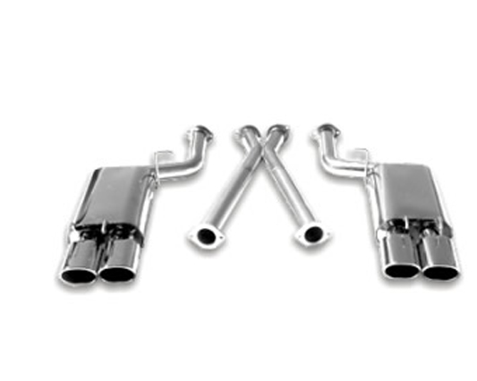 B&B 2.5 inch Catback Exhaust System Quad 4.5 inch Oval Tips Nissan 300ZX Twin Turbo 90-96 - FPIM-0035