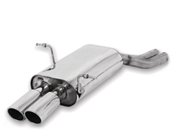 B&B Touring Axle Back Muffler with Stealth Tips BMW 323i E46 99-00 - FBMW-1000