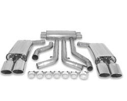 B&B 3 inch Catback Exhaust Quad 4.5 inch Oval Tips Chevrolet Corvette C4 ZR1 90-91