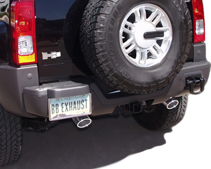 B&B Catback Exhaust System With Dual 3-1/2 inch Double Wall Round Tips Hummer H3 Alpha 08-10 - FTRU-0552