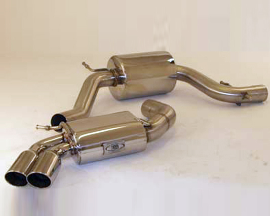 B&B Catback Exhaust System With Downpipe 2.5 inch w/Twin Tips Volkswagen Golf GTI 03-05