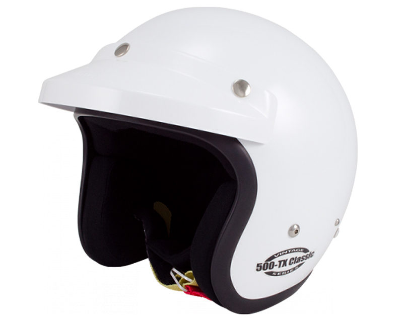 Image of Bell Racing 500 TX Classic White Helmet LG 60 SA10 FIA8858-2010