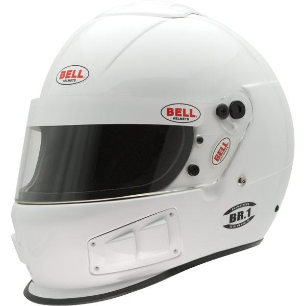 Image of Bell Racing BR.1 White Helmet 2XL 63-64 SA10