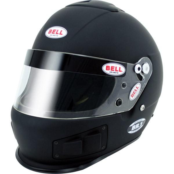 Image of Bell Racing BR.1 R. Matte Black Helmet 2XL 63-64 SA10