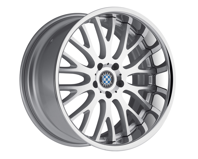 Beyern Munich Silver with Machine Cut Face & Chrome Lip Wheel 19x10 5x120 +25mm - BE-1910BYN255120S72