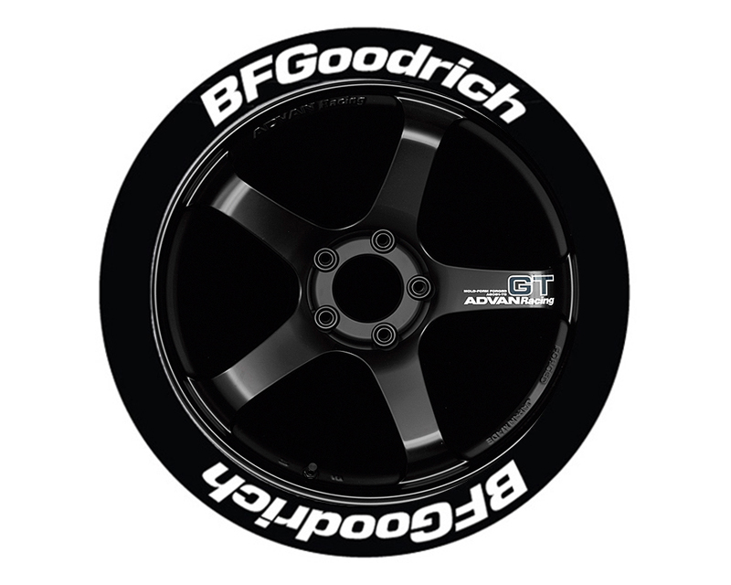 Tire Stickers Permanent Raised Rubber Lettering 'Bf Goodrich - TS-BFG-RR