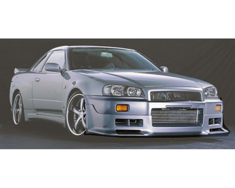 Blitz Aerospeed Side Skirt Set Tupe-2 Nissan Skyline R34 99-02 - 60036