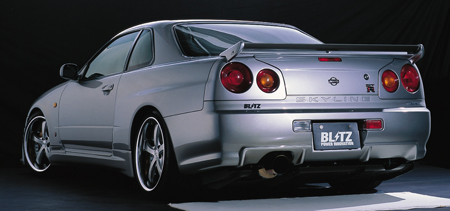 Blitz Aerospeed Rear Trunk Wing Nissan Skyline R34 99-02 - 60034