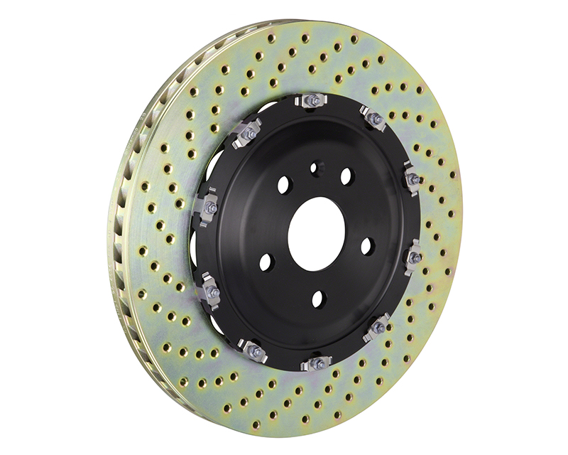 Brembo Drilled Front 380x34 2-Piece Rotors Audi R8 5.2 Excluding Ceramic Brake 08-16 - 101.9003A