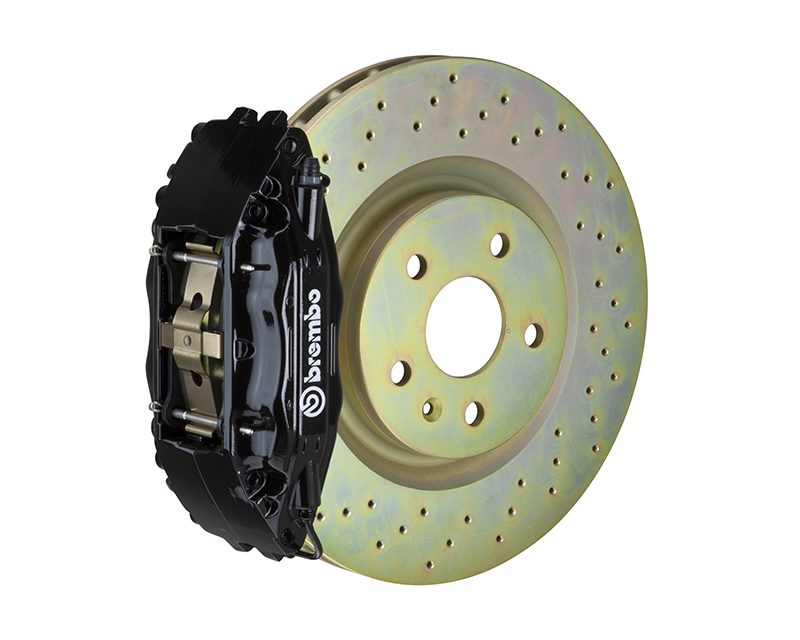 Brembo GT 355x32 1-Piece 4 Piston Black Drilled Front Big Brake Kit Ford Mustang GT 05-14 - 1B4.8001A1