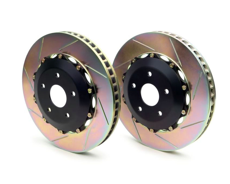 Brembo GT 13 Inch 2pc Rear Slotted Rotors Aston Martin DB9 03-12