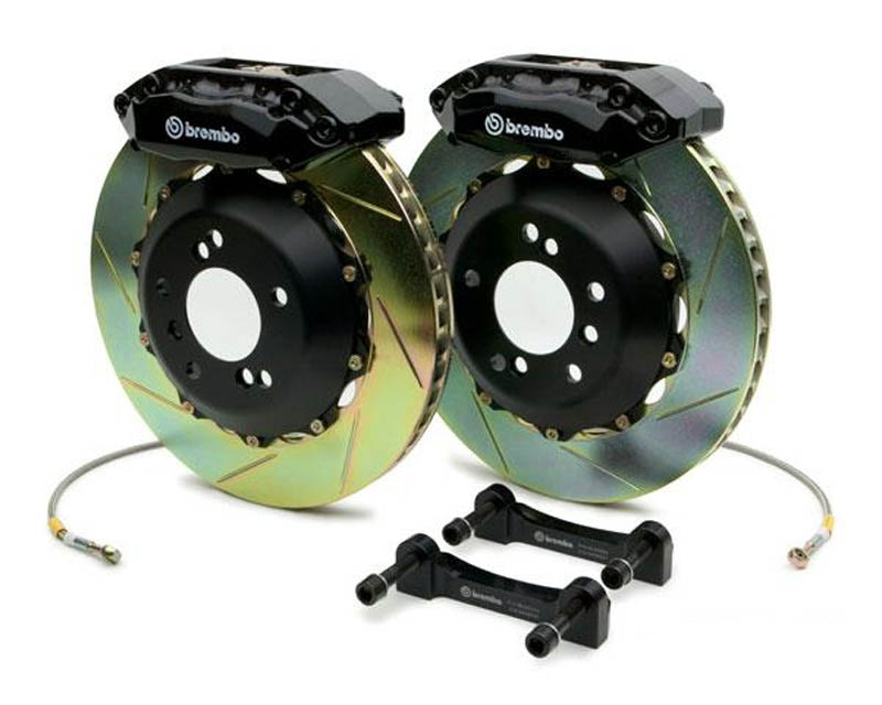 Brembo GT 15 Inch 4 Piston Monoblock Rear 2pc Drilled Big Brake Kit Mercedes-Benz E63 10-14
