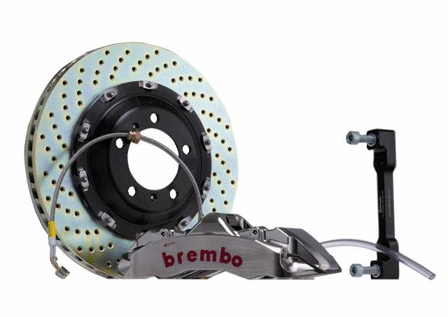 Brembo GT-R 14 Inch 6 Piston 2pc Front Brake Kit Nissan 350Z 03-08