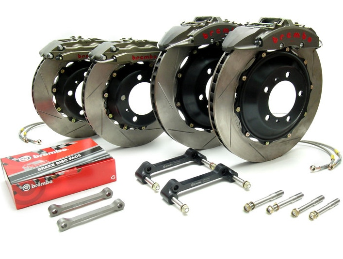 Brembo GT-R 13.6 Inch 4 Piston 2pc Rear Brake Kit Infiniti G37/G37S Coupe 08-11