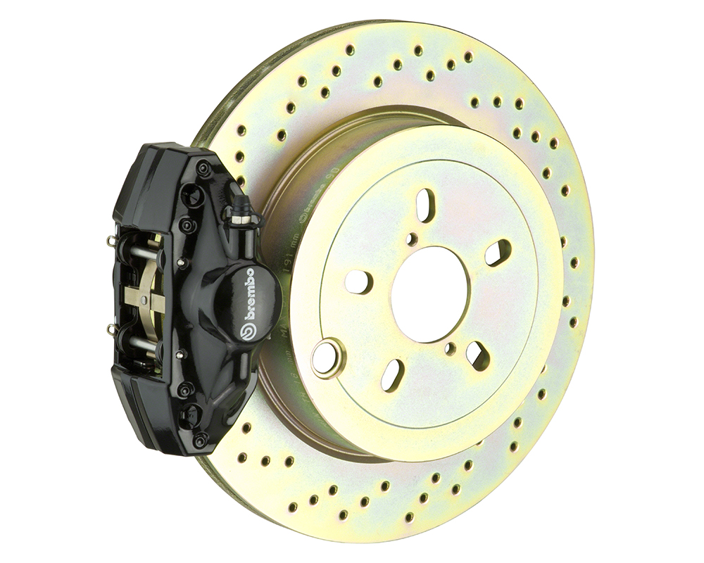 Brembo GT 13 Inch 4 Piston 2pc Front Drilled Big Brake Kit Mercedes-Benz E-Class 96-02