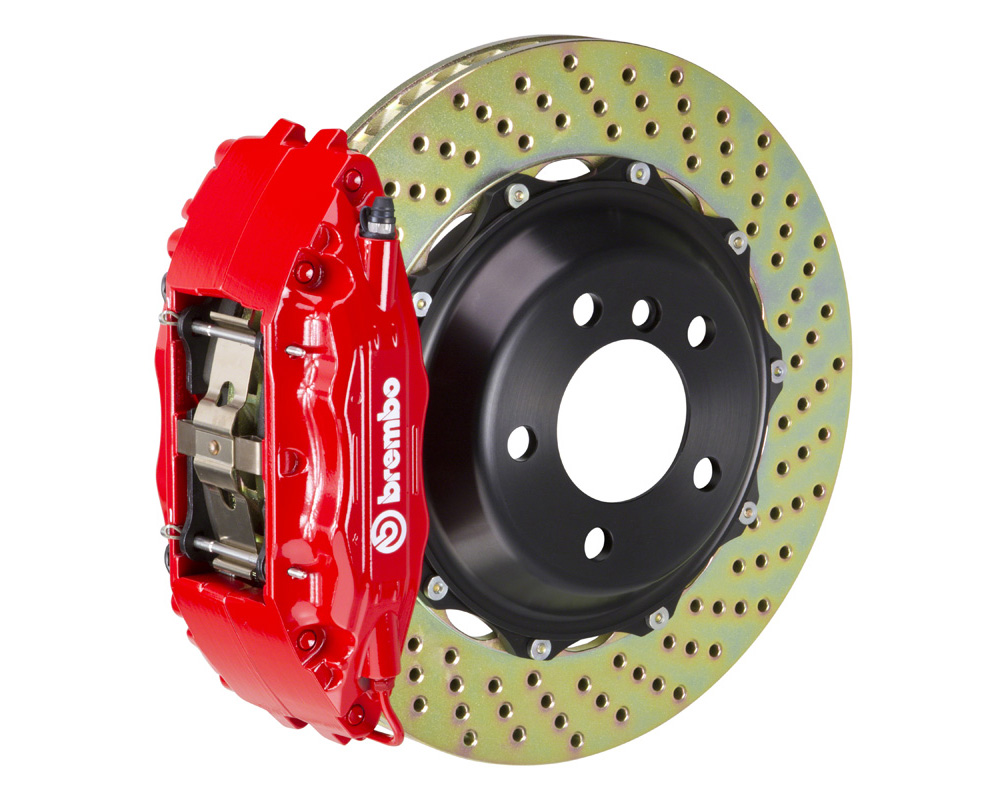 Brembo GT 332x32 2-Piece 4 Piston Red Drilled Front Big Brake Kit - 121.7005A2