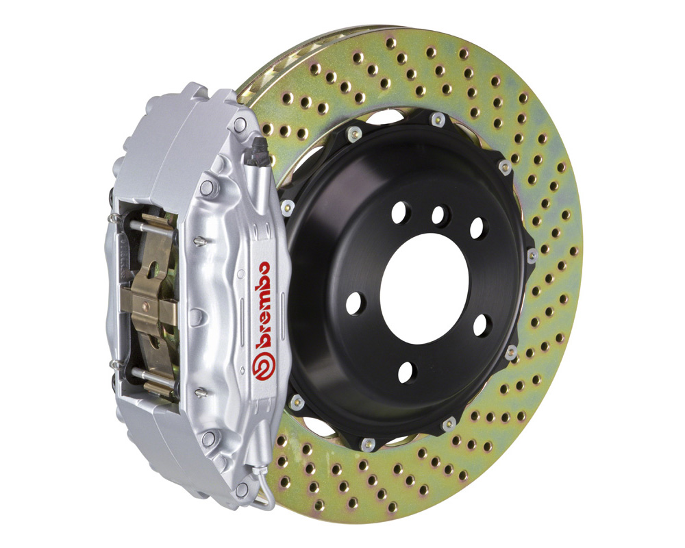 Brembo GT 332x32 2-Piece 4 Piston Silver Drilled Front Big Brake Kit - 121.7005A3