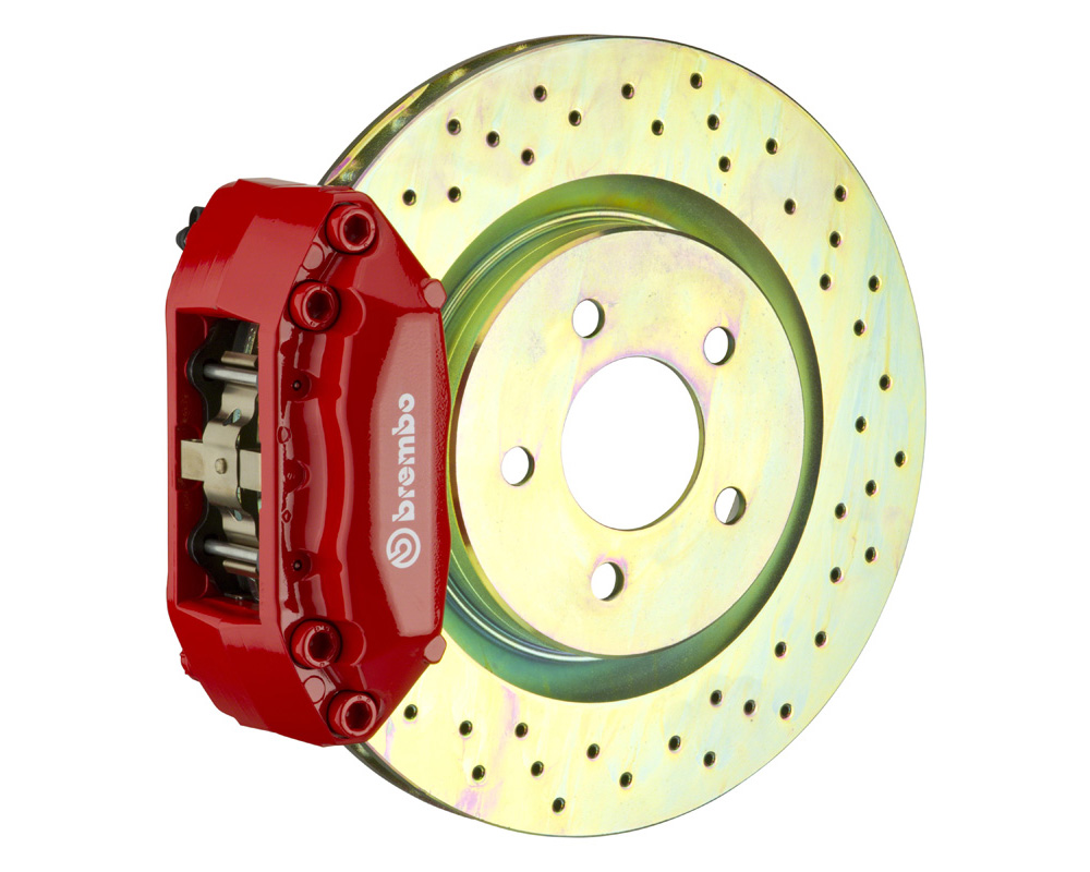 Brembo GT 315x28 1-Piece 4 Piston Red Drilled Front Big Brake Kit - 1A4.5001A2