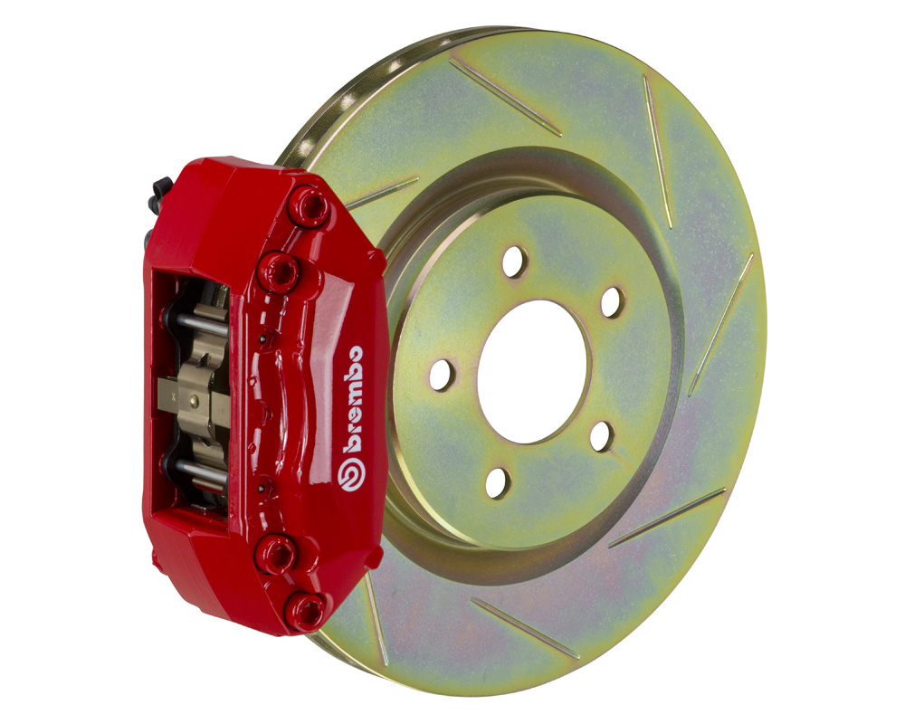 Brembo GT 310x25 1-Piece 4 Piston Red Slotted Front Big Brake Kit - 1A5.5016A2