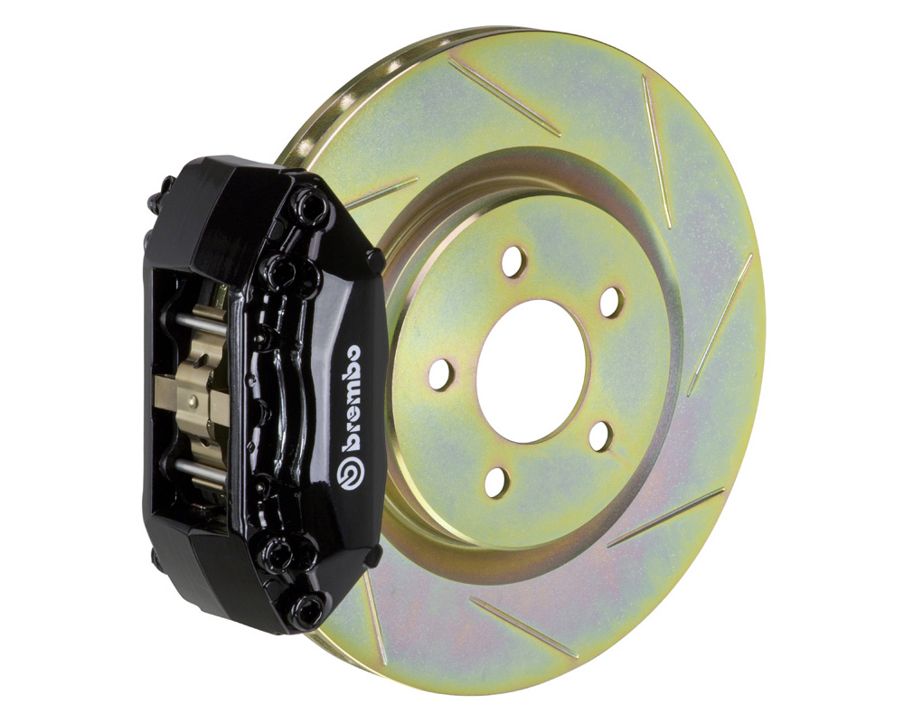 Brembo GT 330x28 1-Piece 4 Piston Black Slotted Front Big Brake Kit - 1A5.6008A1