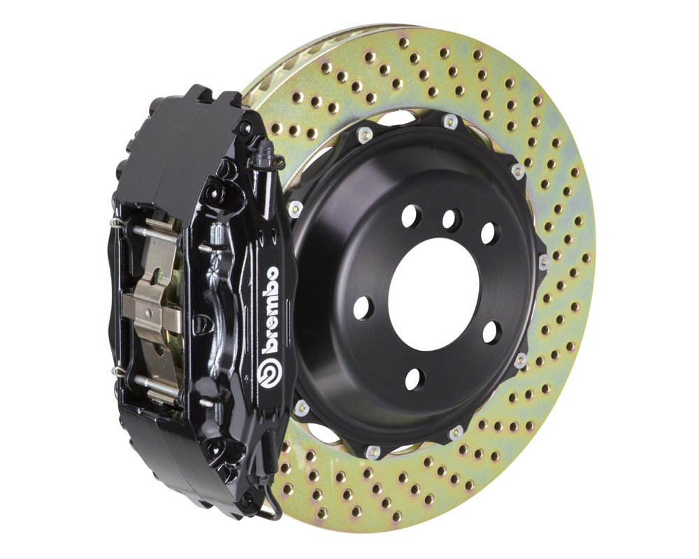 Brembo GT 332x32 2-Piece 4 Piston Black Drilled Front Big Brake Kit - 1B1.7003A1