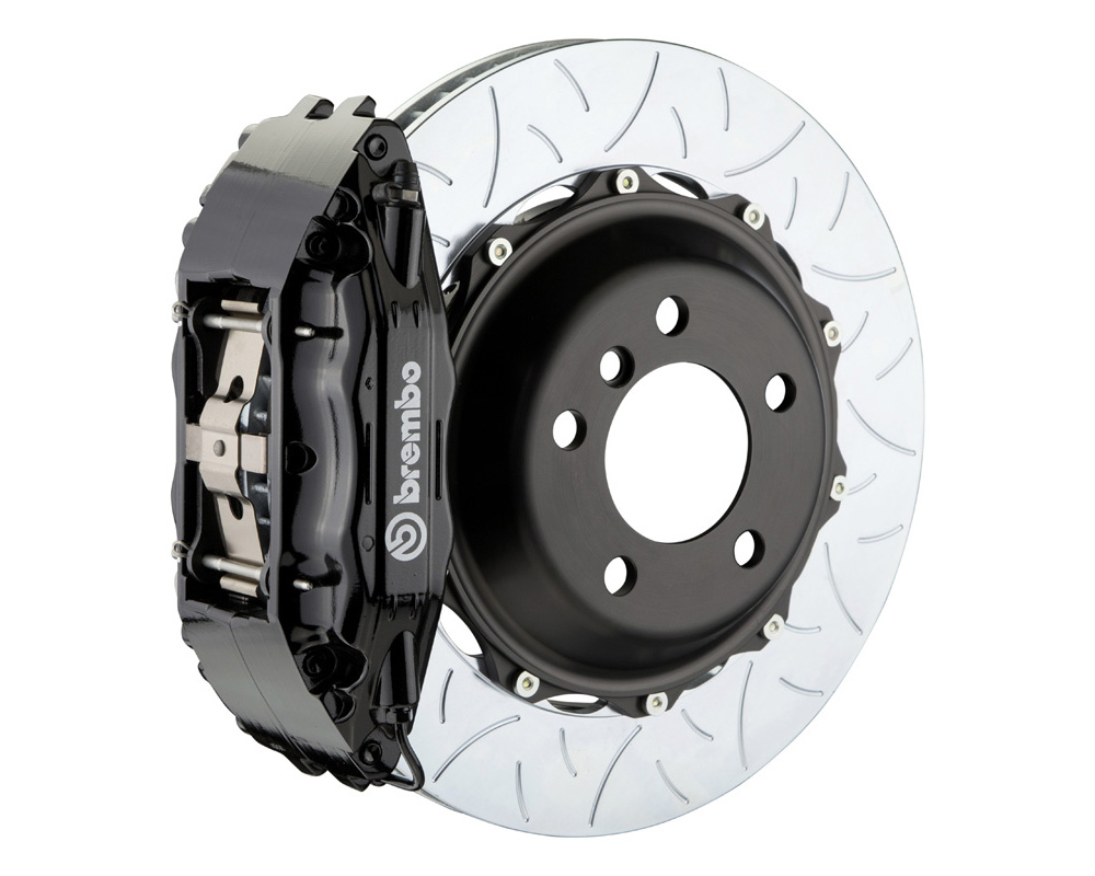 Brembo GT 355x32 2-Piece 4 Piston Black Slotted Type-3 Front Big Brake Kit - 1B3.8041A1
