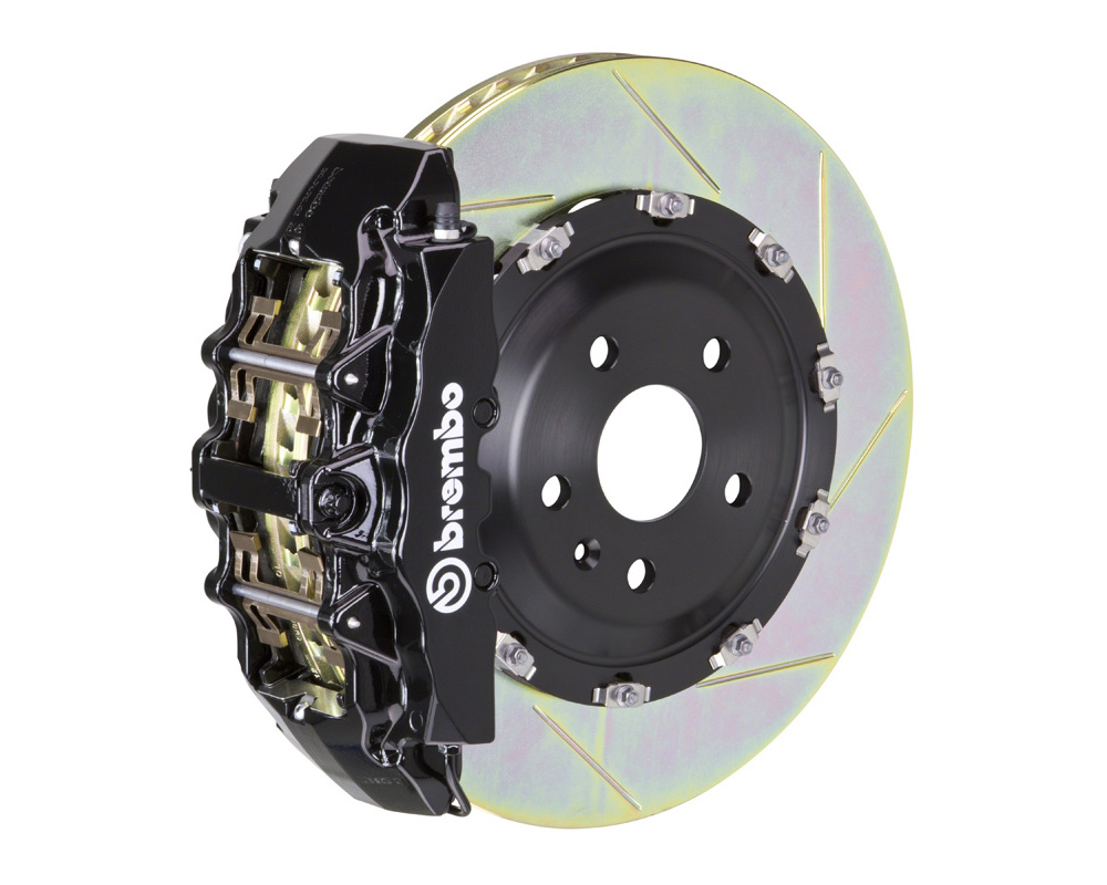 Brembo GT 380x34 2-Piece 8 Piston Black Slotted Front Big Brake Kit - 1G2.9028A1