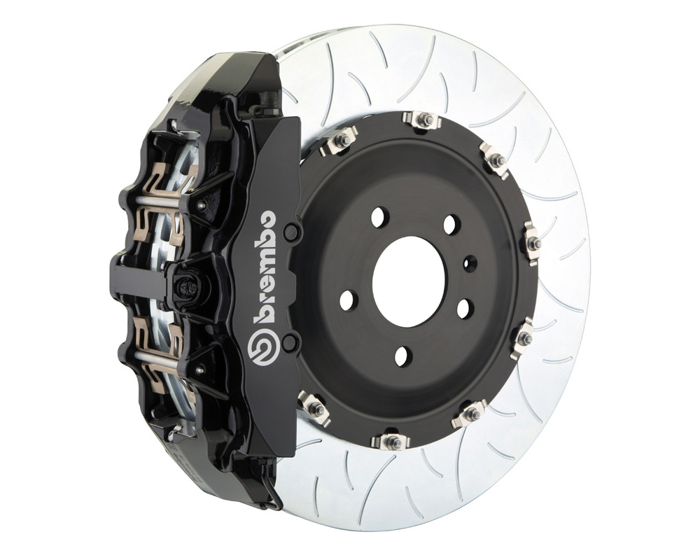 Brembo GT 380x34 2-Piece 8 Piston Black Slotted Type-3 Front Big Brake Kit - 1G3.9016A1