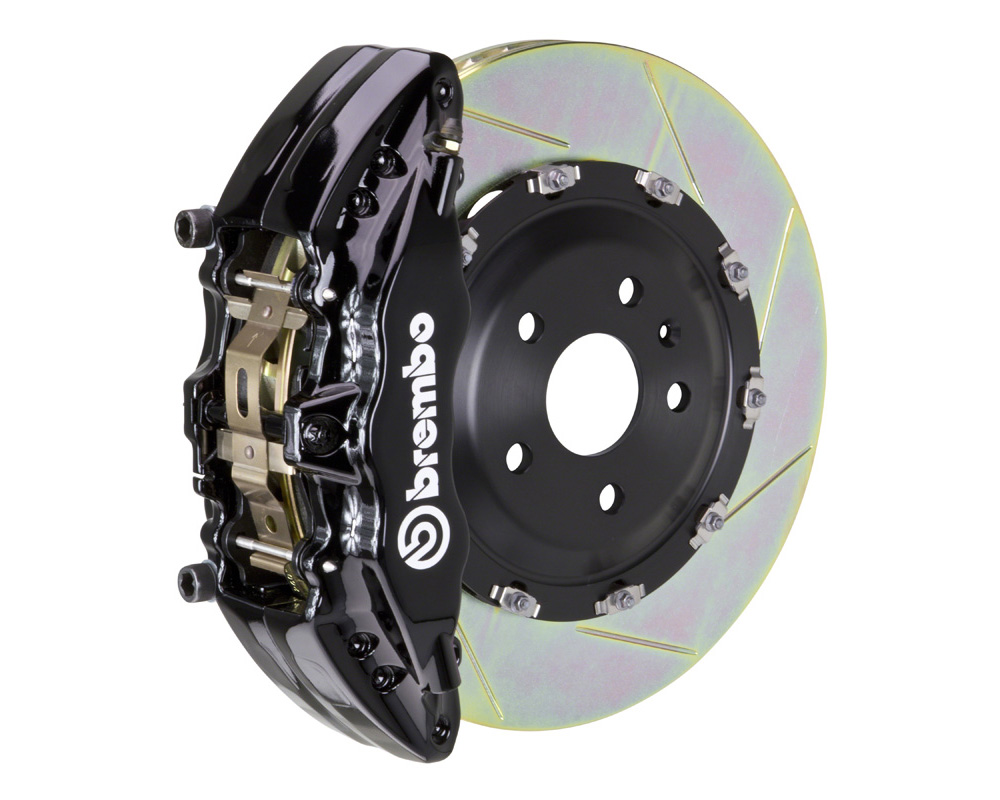 Brembo GT 380x34 2-Piece 6 Piston Black Slotted Front Big Brake Kit - 1J2.9011A1