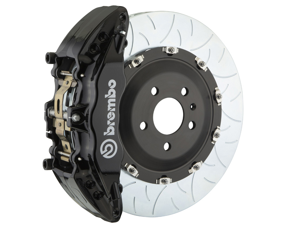 Brembo GT 380x34 2-Piece 6 Piston Black Slotted Type-3 Front Big Brake Kit - 1J3.9011A1