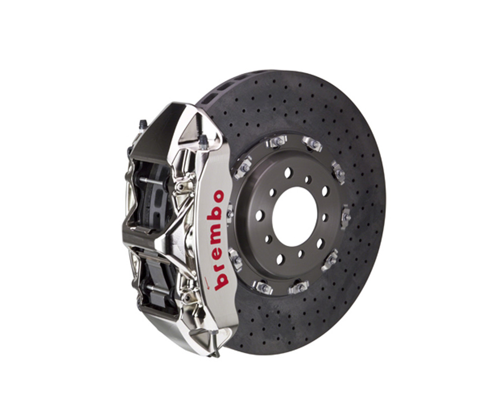 Brembo GT-R CCM-R 380x34 CCM-R 6 Piston Nickel Plated Drilled Front Big Brake Kit - 1L9.9012AR